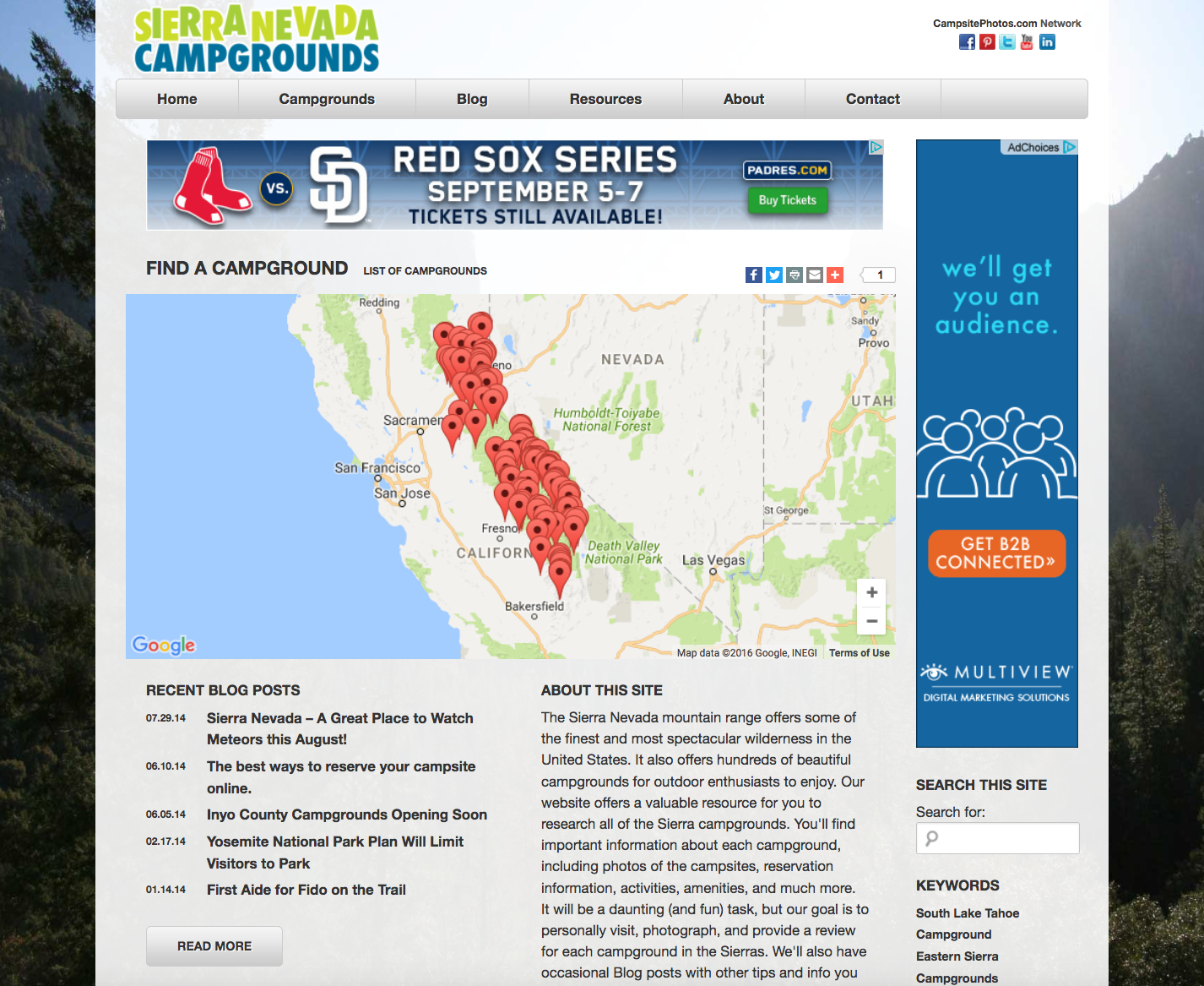Sierra Nevada Campgrounds